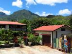A Panorama of Hanalei Surfboard House from Weke Rd