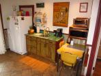 The beautiful kitchenette area