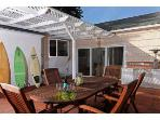 Patio just off the family room which has sliding doors - Professional Dart Board and Darts provided