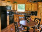 Modern Fully Equipped Kitchen!  Table and chairs for four with Great View of the Mountains!