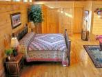 King Sized Hickory Log Bed - Triple Pillow Top Mattress!  Extremely Comfortable!