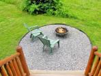 Fire Pit right off the Front Porch!
