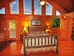 Hickory Log,  Pillow Top Mattress,  Comfortable!