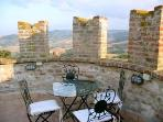 Patio on top of tower