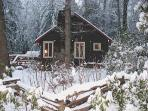 Winter wonderland at Creekstone Cabin.