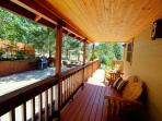 side porch and view or BBQ