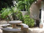 Garden siting area