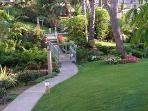 12 acres of Hawaiian tropical gardens surround our beach home. Visit the Koi pond and water falls.