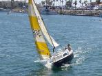Here is a family sailing out of the Harbor for a day in the open water.