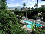 Large 30 x 60 pool and view to Mt Haleakala