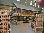 The Maritime Market has a complete wine and food section along with fresh fruit, vegitables and meat