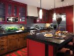 Prefessionally-equipped kitchen with modern finishes