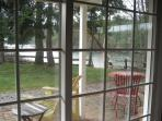 View from the patio across the water.