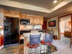 Rachel Lane Family Room Kitchen Breckenridge Luxury Home Rentals
