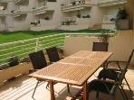 Room for 6 to dine on the terrace comfortably