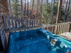Relax in your private hot tub right outside your bedroom