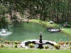Pats view of herb garden and trout pond