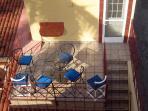 Invite the neighbors for dinner on the balcony.