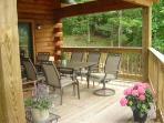 Deck breakfast area