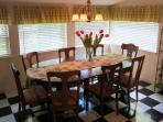 Sunny Kitchen Nook- seats 10 plus