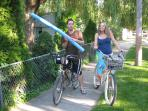Bikes are included - ride to the beach