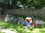 Unlimited use of high quality bikes are included in the rental! 6 adult bikes & 3 children's bikes