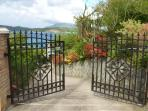 Beautiful, gated and paved entrance to villa