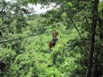 Ziplining at Los Lagos, near Arenal