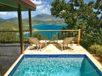 Coral Bay, St. John USVI Villa Rental - Private pool view - Swimsuits not allowed - Mooncottage