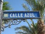 Calle Azul Street sign