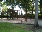 And there's a playground for the little ones -- in the shade!
