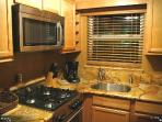 Galley Kitchen all Stainless Steel Appliances