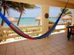 Swing in a hammock in the caribbean breeze.  La Mirage 1, Akumal