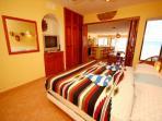 Luna Azul #4 master bedroom, Half Moon Bay, Akumal, Mexico