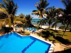 Seven Seas Condos, from the pool to the beach. South Akumal