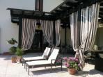 Luxury tanning terrace at Villa San Toma