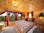 King Guest suite upstairs with a beautiful view of Mt. LeConte