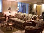 Living room area w/ sofa sleeper