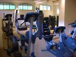 Brand new gym with cardio equipment, weight machines, free weights...