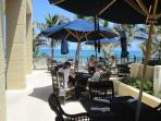 Solu Restaurant -Outside oceanfront seating.