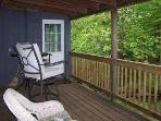 Covered Deck Overlooking the Creek