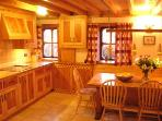 Hand made Maple and Yew kitchen