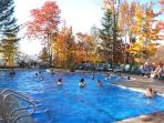 Pool area in the fall