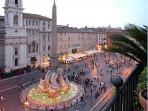 Beautiful view of piazza Navona, few steps from the apartment