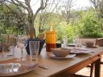 Alfresco dining at your private terrace