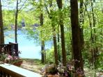 Enjoy the lake and forest view from the covfered deck!