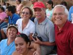 Enjoying an evening at the Rodeo with Canadian and Costa Rican friends