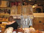 One of many boulangeries with delicious bread, pastries, sandwiches, cakes.