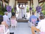 A recent wedding ceremony in the villa