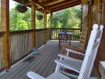 Back Porch that Overlooks Mountain